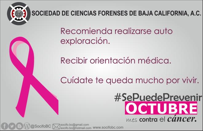 OCTUBRE MES CONTRA EL CANCER