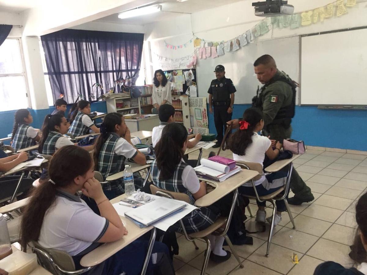 "Realizan ""Mochila Segura"" en escuela del Capistrano SSPMTJ"
