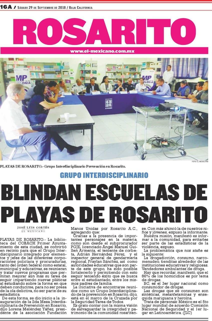 Construyen Blindaje escolar para las escuelas de Playas deRosarito.