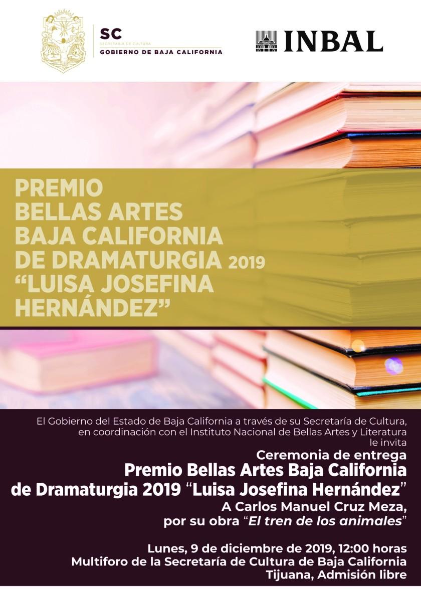 Invitacion_Premio Bellas Artes de Dramaturgia